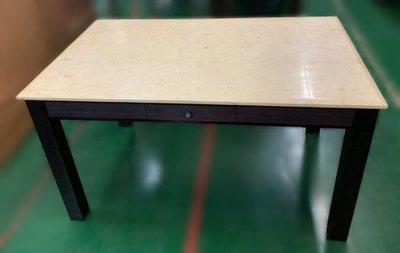 樂居二手家具(中)台中西屯二手傢俱買賣推薦 E120703*大理石餐桌 *2手桌椅拍賣 會議桌椅 戶外休閒桌椅 課桌椅