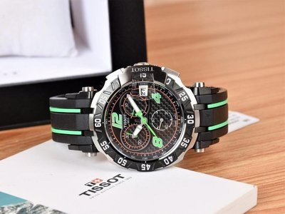 Tissot 天梭T092系列休閒運動男錶ETA瑞士原裝石英、藍寶石鏡面、矽膠錶帶