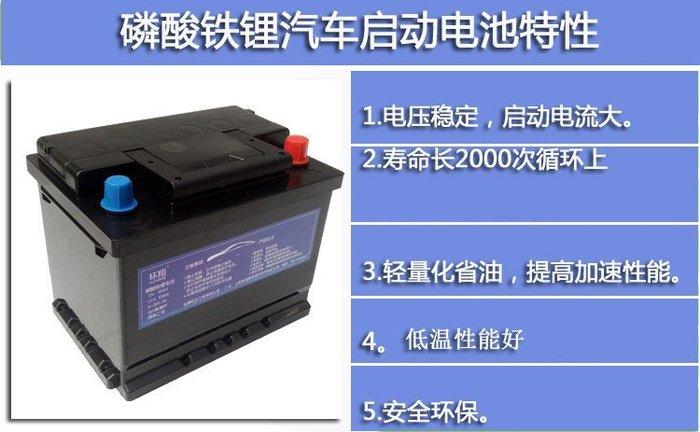 AGM啟停系統 磷酸鋰鐵汽車電池12V100AH 有保護板 汽車鋰電 汽車電瓶 磷酸鐵鋰