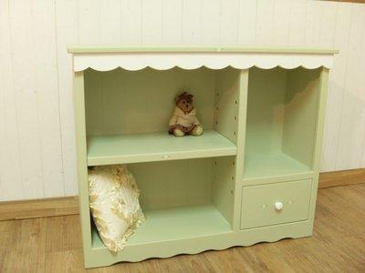 松木 實木  收納櫃 置物櫃**樂在幸福**木作坊 ~A114~松木收納櫃~粉綠色