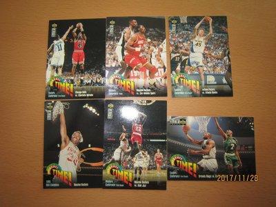 網拍讀賣~UPPERDECK~95/96~超過20年的歷史~Michael Jordan~PLAYOFF TIME~6張