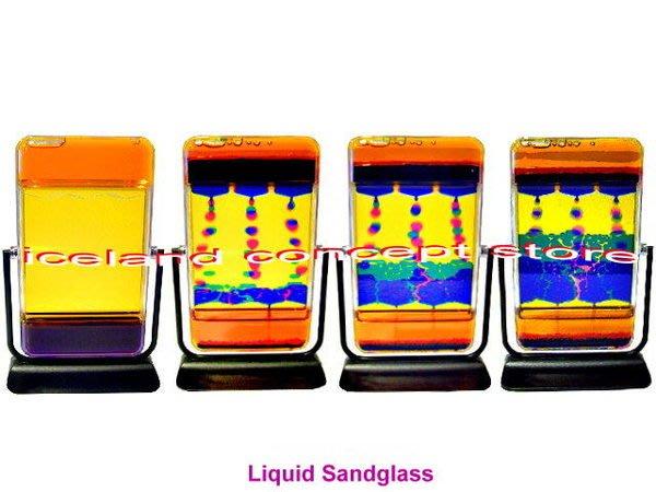 iceland ~ 懷舊童玩 大長方鏡子型翻動水滴沙漏 (賠錢價$990,限量發售,售完為止)