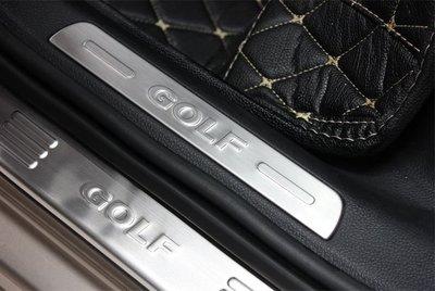 ** 福品小舖 ** 福斯 VW GOLF 7  Variant 旅行款 不銹鋼 迎賓踏板 門檻條 外置型 4片款