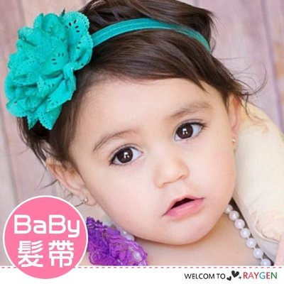 HH婦幼館 歐美時尚寶寶鏤空洞洞立體花朵髮帶 髮箍【2F225Z276】