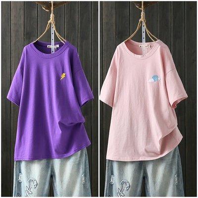 喬羽中大尺碼~XL-4XL 超大尺碼短袖純棉T恤 DA090409