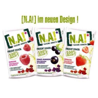 🇩🇪 德國100%濃縮果汁『N.A!』水果軟糖 水果條 草莓 覆盆子莓 藍莓口味 35g