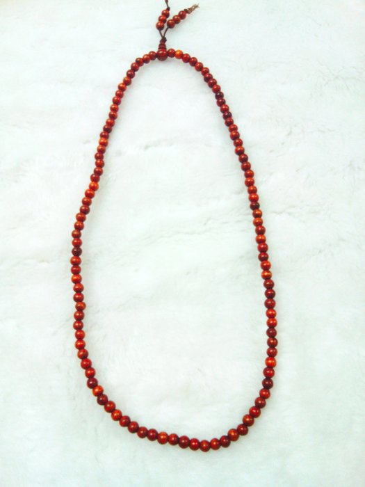 【心聚福香堂】天然紅檀佛珠/手珠/6mm*108顆含葫蘆頭 珍貴正品香氣清香,特價$399 手工車製、無上漆