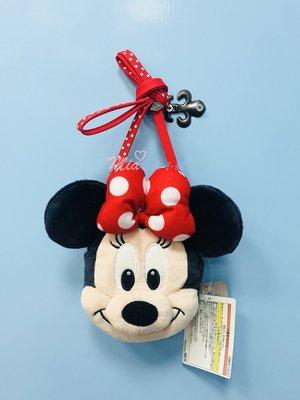 ☆Mia日系小舖☆迪士尼 米妮 大頭造型立體絨毛 票卡夾 零錢包