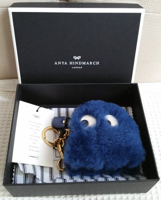 ANYA HINDMARCH Ghost Shearling Coin Purse (New)
