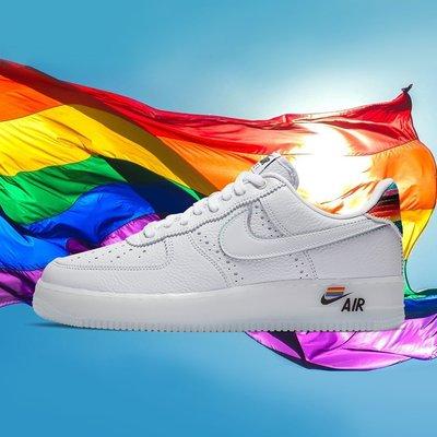 [RG專業代購] 2020 Nike Air FORCE 1 BeTrue性別平權彩虹配色潮流男女鞋(+)