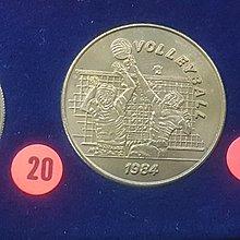 ☆承妘屋☆1984年美國洛杉磯奧林匹克運動會奧運紀念章 ~ZAB.排球.20