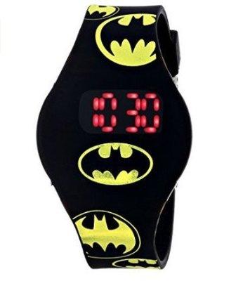美國加州好物代購~正版DC系列 Batman 蝙蝠俠 酷炫LED顯示 兒童電子手錶 兒童手錶 學習手錶 生日禮 聖誕禮