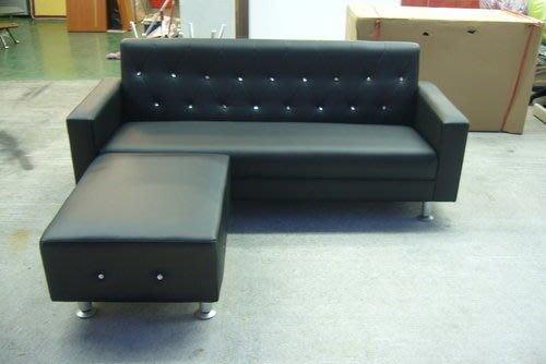 宏品二手傢俱賣場 A619全新L型皮沙發 鑲鑽水晶沙發椅 客廳家具 庫存電視櫃 茶几 酒櫃 台中便宜家2手家具大特價