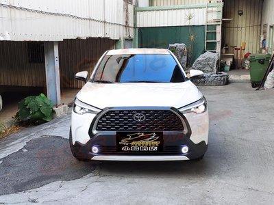 (小鳥的店)豐田 2020-2021 Corolla Cross RF 空力套件  前下巴 後下巴 台製 無紅線款