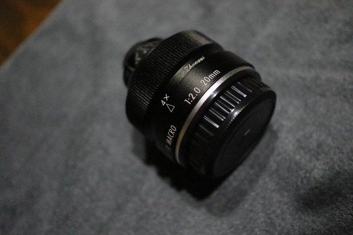 中一光學20mm f2 Super Macro 4倍超微距鏡 Pentax K/Eos M/近全新/送轉接環