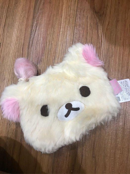 *凱西小舖*日本進口正版SAN-X Rilakkuma 懶熊妹 牛奶妹 毛茸收納/零錢包/隨身化妝包