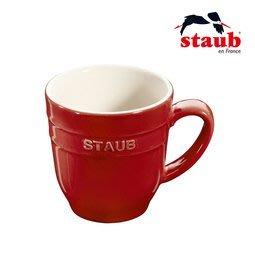 全新法國 Staub 馬克杯 9x9.5cm-櫻桃紅