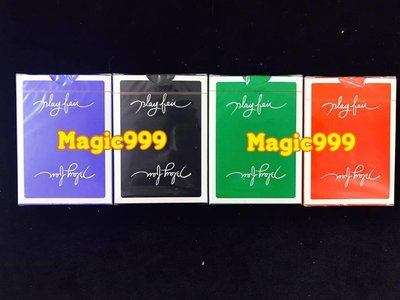 [MAGIC 999] 魔術道具 花切紙牌 系列 Play fair playing card 藍色/黑色/綠色/紅色