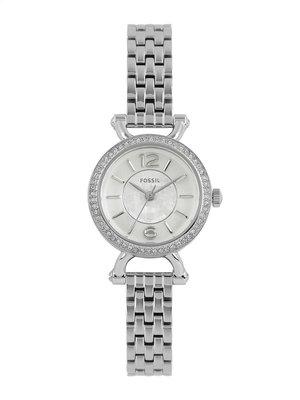 《Vovostore》Fossil ES3893 迷你晶鑽不鏽鋼鍊錶**附保證書、收據**(2700含郵)