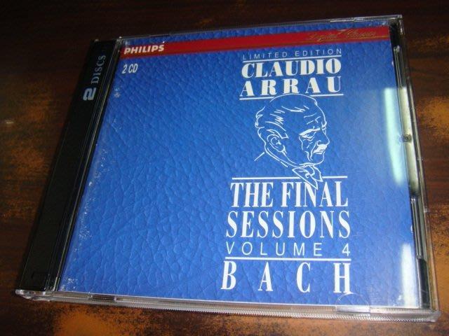 好音悅 全銀圈 Arrau 阿勞 最後錄音 BACH 巴赫 鋼琴組曲 2CD Philips 美版 01版 無IFPI