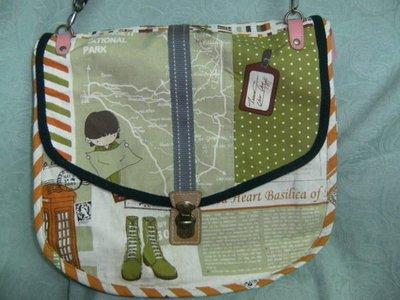 """日本""""Keep in Touch""""棉布雙面背包 --環遊世界圖案,實用又環保的包"""