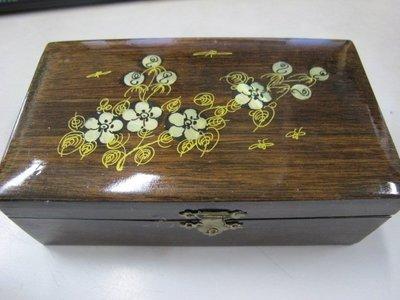 二手舖 NO.828 木製首飾珠寶盒