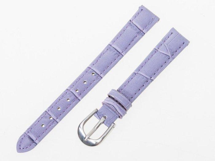 小牛皮鱷魚紋錶帶 真皮手錶錶帶 – 紫 - 多尺寸可選