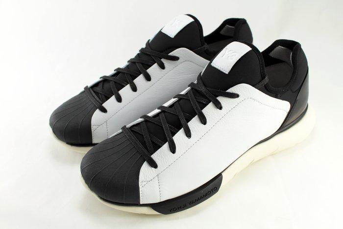 INDiCE ↗ Adidas Y-3 QASA SHELL M25385 皮革休閒運動鞋 黑白配色
