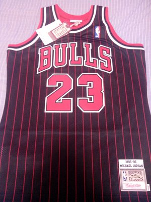 NBA Michael Jordan 公牛隊 M&N 條紋球衣 Mitchell & Ness
