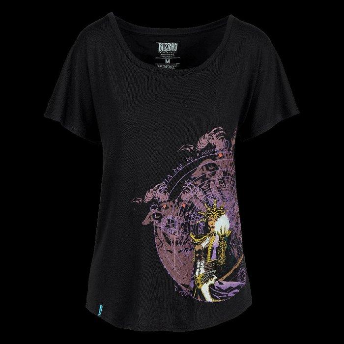 【丹】暴雪商城_Diablo Wizard Shirt 暗黑破壞神 T恤 法師 女版