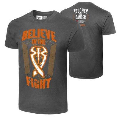 2020WWE摔角衣服Roman Reigns Tougher Than Cancer 罗曼橙色字母LOGO灰色短袖T恤