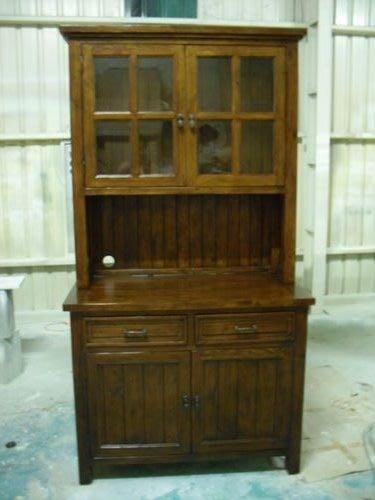 美生活館---全實木鄉村家具--餐櫃/碗盤櫃/收納櫃--超厚實木/復古破壞處理