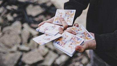 流光撲克牌(花切無點數版本)Fluid Art Orange Playing Card 花切撲克牌 花切牌