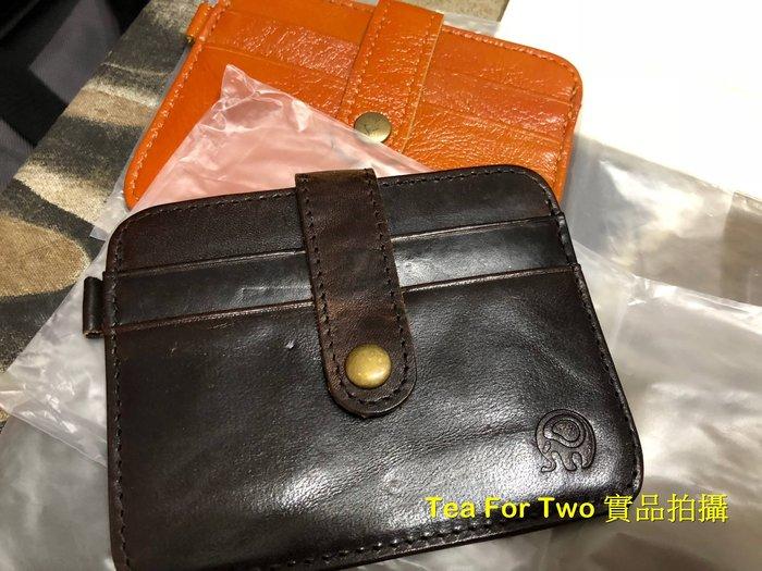 泰國正品(現貨) - 真皮小象證件套,可放證件/鈔票喔 (黑色)