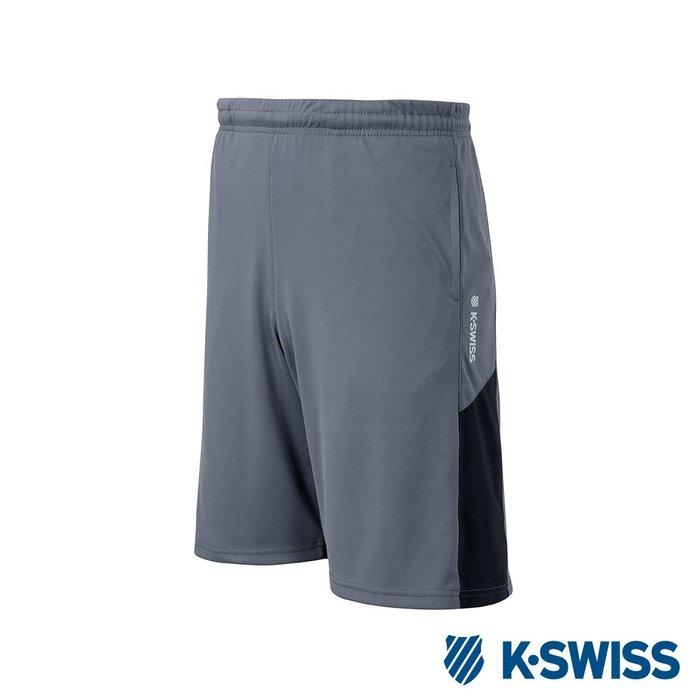 DIBO弟寶-免運 現貨 K SWISS 蓋世威 男生 運動休閒 短褲 吸濕快排 彈性涼感-灰色-有大尺碼