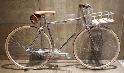 77號單車站,700c CrMo Lug高階鏡面電鍍,日本shiman內變三速時尚城市車,linus,單速車、fixed gear,tokyobike
