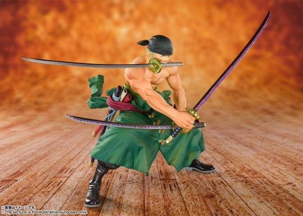海賊王 20周年 動畫版模型 十人草帽團 三刀流 索隆