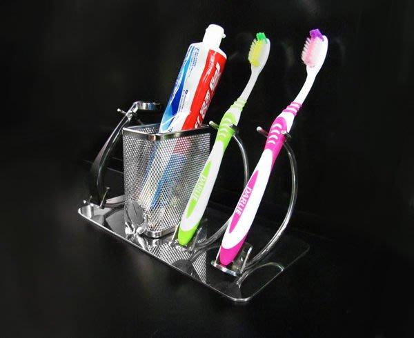 ☆成志金屬☆設計款*不鏽鋼牙刷架三支款,質感設計,置於桌面,304不銹鋼刮鬍刀架