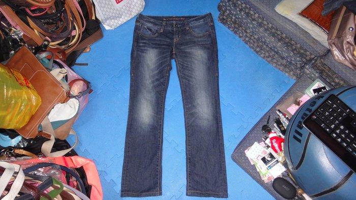 ~保證真品 Levi's 鬼洗藍色Tiger系列低腰牛仔直筒長褲27腰~便宜起標無底價標多少賣多少