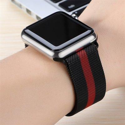 小胖 Apple Watch Series 4 123代 潮夯迷彩米蘭尼斯金屬磁吸蘋果手錶錶帶 40 44mm 替換腕帶