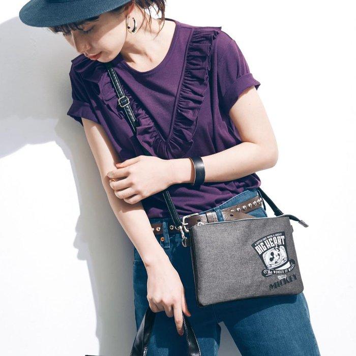 迪士尼DISNEY《預購》米奇 兩用手拿斜背包 手機包~日本正品~心心小舖