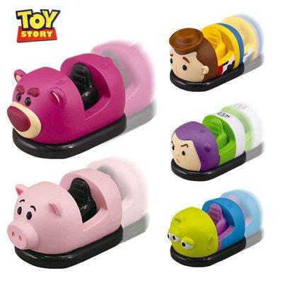 迪士尼TSUM玩具總動員迴力車胡迪巴斯光年三眼怪草莓熊玩具車 玩具總動員造型車 迴力車 一套五入