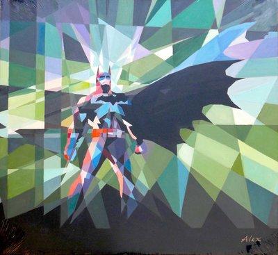 聚鯨Cetacea﹡Art【Batman(蝙蝠俠) / Alex】進口油畫 無框畫 手繪油畫 電影主題
