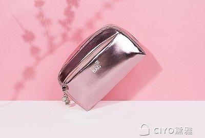 日和生活館 少女心化妝包小號便攜韓國大容量簡約化妝品收納包化妝袋S686