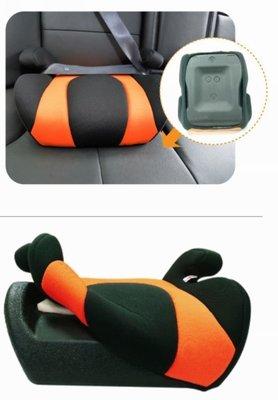 亮晶晶小舖-媽咪抱抱 兒童安全帶增高坐墊(黑橘) ABT-556 安伯特增高墊椅 增高墊 安全座椅增高 輔助墊