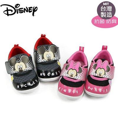 童鞋/迪士尼Disney米奇米妮學步鞋.寶寶鞋.紅.黑13-16號(119355.356)