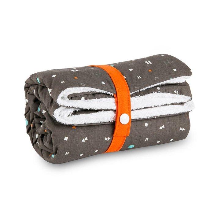 〖洋碼頭〗法國原產Carotte-Cie嬰兒毯新生兒抱毯爬行毯播放按鍵印花 L3130