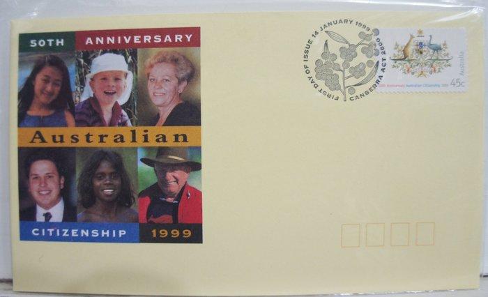 (全新) 1999年-澳洲-50th Anniversary Australia Citienship - 首日封
