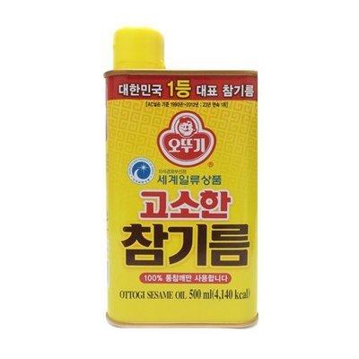 匯盈一館~韓國不倒翁頂級醇香芝麻油~韓國麻油500ML~濃純香的韓國芝麻油韓式芝麻油