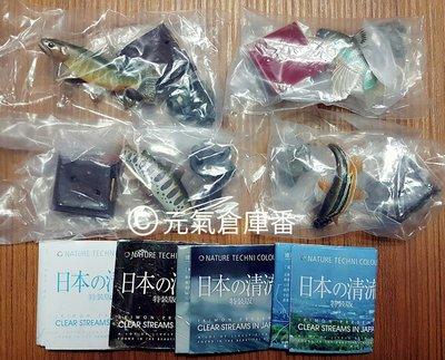 【售完-扭蛋 轉蛋】日本 清流 魚兒 溪流魚 特裝版,四入款 (全新品) 超細膩,超寫實,體態超美!!